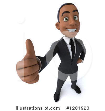 Black Businessman Clipart #1281923 by Julos