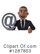 Young Black Businessman Clipart #1287853 by Julos