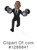 Young Black Businessman Clipart #1288841 by Julos