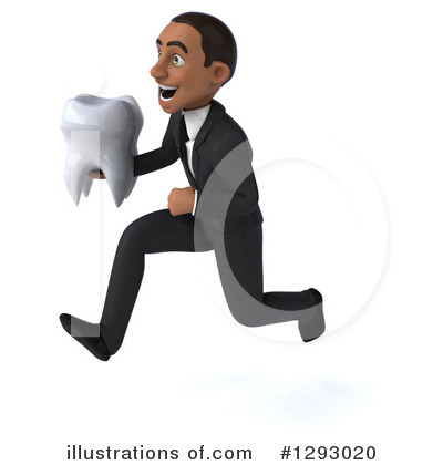 Young Black Businessman Clipart #1293020 by Julos