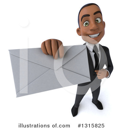 Black Businessman Clipart #1315825 by Julos