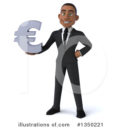 Young Black Businessman Clipart #1350221 by Julos