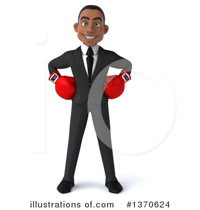 Young Black Businessman Clipart #1370624 by Julos
