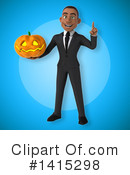 Young Black Businessman Clipart #1415298 by Julos