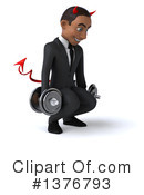 Young Black Devil Businessman Clipart #1376793 by Julos