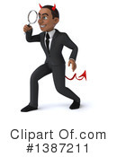 Young Black Devil Businessman Clipart #1387211 by Julos