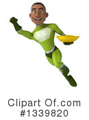 Young Black Green Male Super Hero Clipart #1339820 by Julos