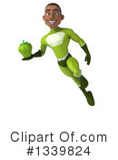 Young Black Green Male Super Hero Clipart #1339824 by Julos