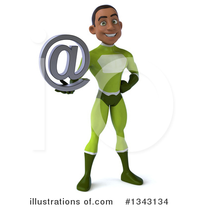 Young Black Green Super Hero Clipart #1343134 by Julos