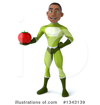 Young Black Green Super Hero Clipart #1343139 by Julos