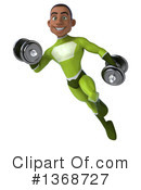Young Black Green Male Super Hero Clipart #1368727 by Julos