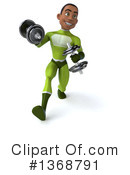 Young Black Green Male Super Hero Clipart #1368791 by Julos
