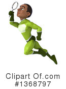 Young Black Green Male Super Hero Clipart #1368797 by Julos