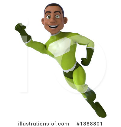Young Black Green Super Hero Clipart #1368801 by Julos