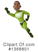 Young Black Green Male Super Hero Clipart #1368801 by Julos