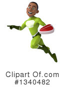 Young Black Green Super Hero Clipart #1340482 by Julos