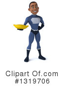 Young Black Male Dark Blue Super Hero Clipart #1319706 by Julos