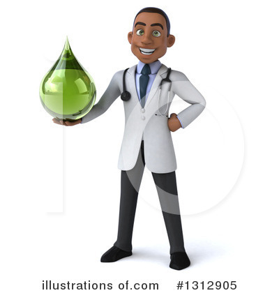 Young Black Male Doctor Clipart #1312905 by Julos