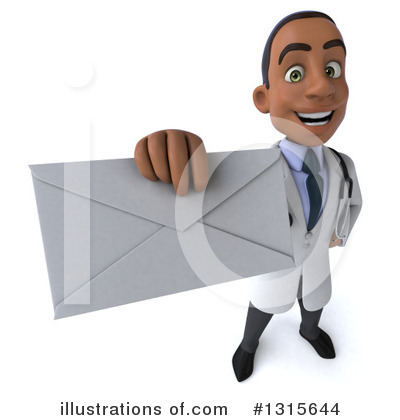 Young Black Male Doctor Clipart #1315644 by Julos