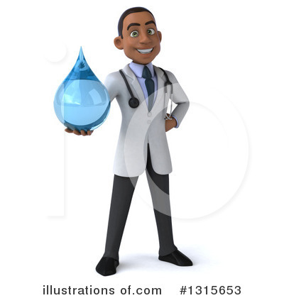 Young Black Male Doctor Clipart #1315653 by Julos