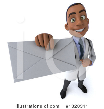 Young Black Male Doctor Clipart #1320311 by Julos