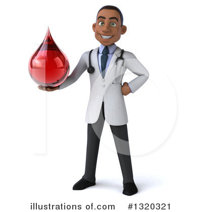 Young Black Male Doctor Clipart #1320321 by Julos