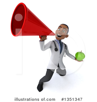 Young Black Male Doctor Clipart #1351347 by Julos