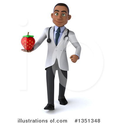 Young Black Male Doctor Clipart #1351348 by Julos