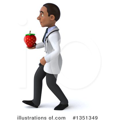 Young Black Male Doctor Clipart #1351349 by Julos