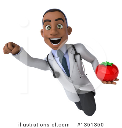 Young Black Male Doctor Clipart #1351350 by Julos