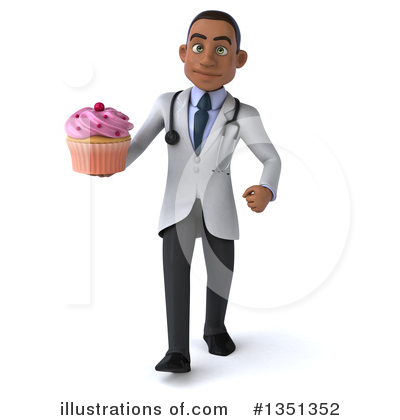Young Black Male Doctor Clipart #1351352 by Julos