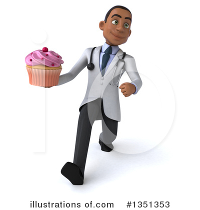 Young Black Male Doctor Clipart #1351353 by Julos