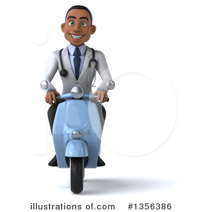 Young Black Male Doctor Clipart #1356386 by Julos
