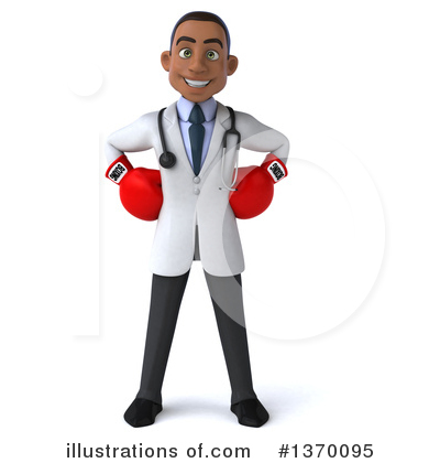 Young Black Male Doctor Clipart #1370095 by Julos