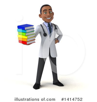 Young Black Male Doctor Clipart #1414752 by Julos