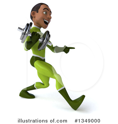 Young Black Green Super Hero Clipart #1349000 by Julos