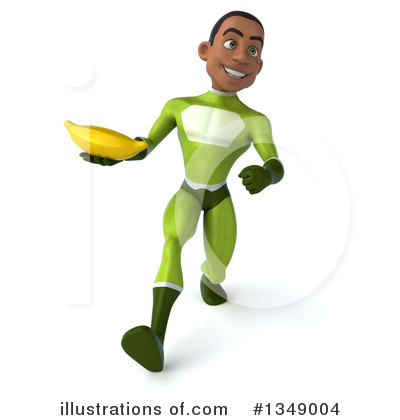 Young Black Green Super Hero Clipart #1349004 by Julos