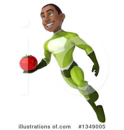 Young Black Green Super Hero Clipart #1349005 by Julos