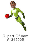 Young Black Male Green Super Hero Clipart #1349005 by Julos