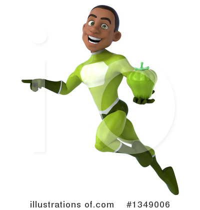 Young Black Green Super Hero Clipart #1349006 by Julos