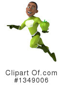 Young Black Male Green Super Hero Clipart #1349006 by Julos