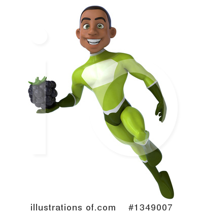 Young Black Green Super Hero Clipart #1349007 by Julos