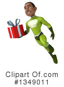 Young Black Male Green Super Hero Clipart #1349011 by Julos