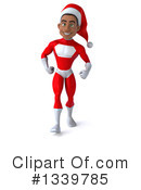 Young Black Male Super Hero Santa Clipart #1339785 by Julos