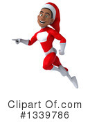 Young Black Male Super Hero Santa Clipart #1339786 by Julos