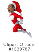Young Black Male Super Hero Santa Clipart #1339787 by Julos