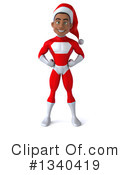 Young Black Male Super Hero Santa Clipart #1340419