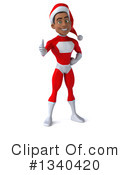 Young Black Male Super Hero Santa Clipart #1340420 by Julos