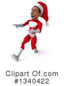 Young Black Male Super Hero Santa Clipart #1340422 by Julos
