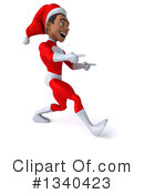Young Black Male Super Hero Santa Clipart #1340423 by Julos